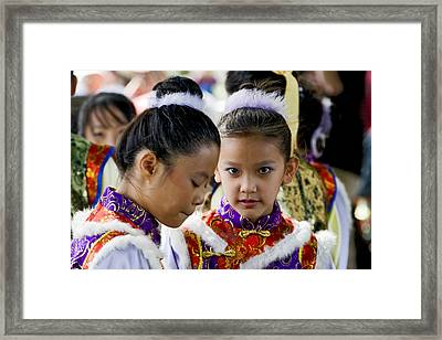 Eastern Dancers Framed Print by Terry Finegan