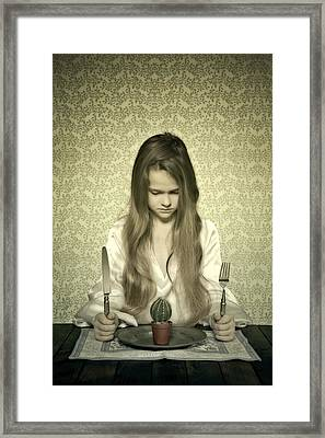 Eating Cactus Framed Print by Joana Kruse