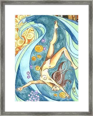 Ebb Framed Print by Caroline Moses