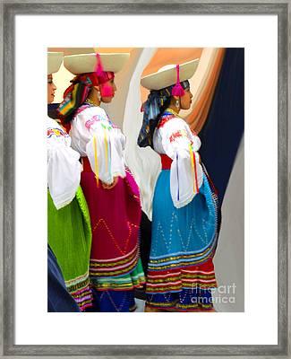 Ecuadorian Dance Troupe Framed Print by Al Bourassa