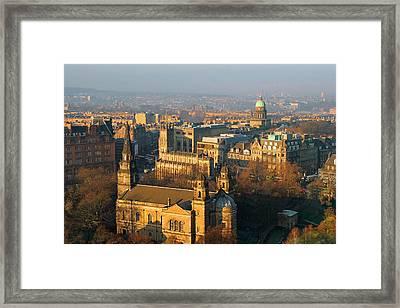 Edinburgh On A Winter's Day Framed Print by Christine Till