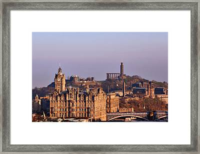 Edinburgh Scotland - A Top-class European City Framed Print by Christine Till