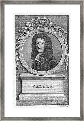 Edmund Waller (1606-1687) Framed Print by Granger