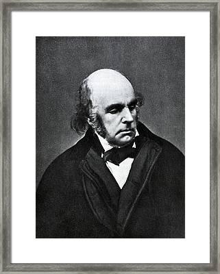 Edward Fitzgerald, English Writer Framed Print by Humanities And Social Sciences Librarynew York Public Library