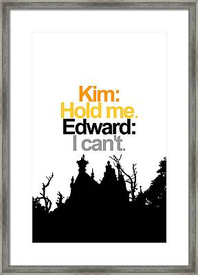 Edward Scissorhands Quote Framed Print by Jera Sky