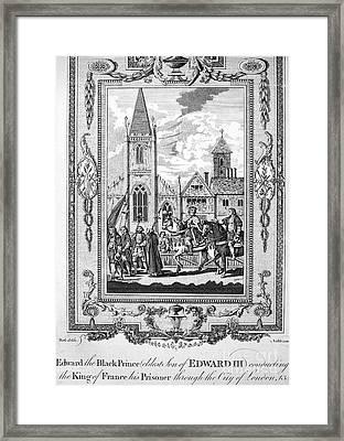 Edward The Black Prince Framed Print by Granger