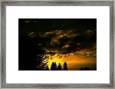 Eerie Evening Framed Print by Kevin Bone