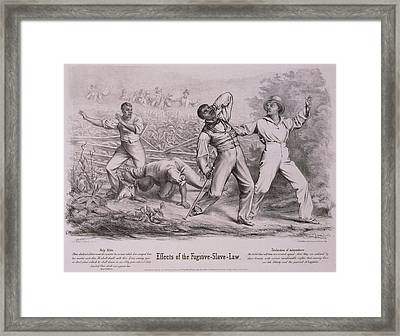 Effects Of The Fugitive-slave-law Framed Print by Everett
