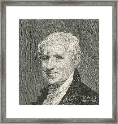Egbert Benson Framed Print by Photo Researchers