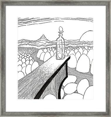 Egg Drawing 030310 Framed Print by Phil Burns