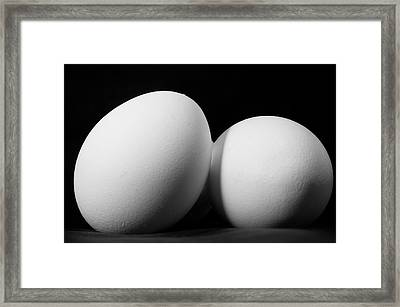 Eggs In Black And White Framed Print by Lori Coleman