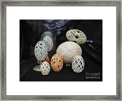 Eggshells 1 Framed Print by Christina A Pacillo