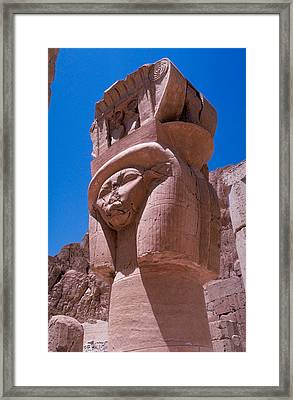 Egyptian Stone Goddess Framed Print by Carl Purcell