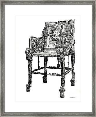 Egyptian Throne Framed Print by Adendorff Design