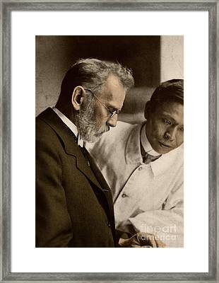 Ehrlich And Hata, Discoverers Framed Print by Science Source