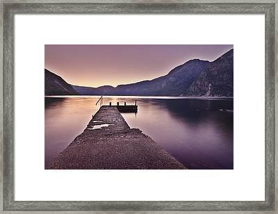 Eidfjord At Sunset Framed Print by Jesus Villalba