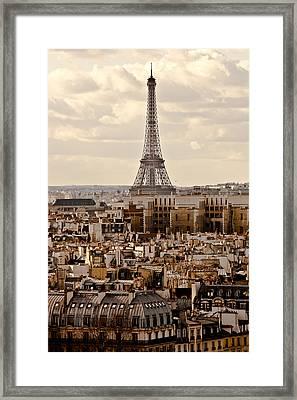 Eiffel Tower Framed Print by Guglielmo William Mangiapane