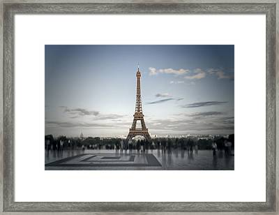 Eiffel Tower Paris Framed Print by Melanie Viola