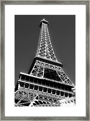 Eiffel Tower Vegas Style Framed Print by Leslie Leda