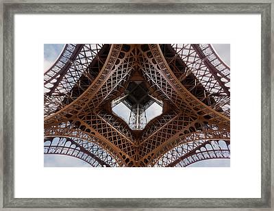 Eiffeltower Eiffel Tower Eiffelturm Framed Print by H a r a l d B e r t l i n g