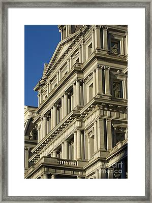 Eisenhower Executive Office Building Washington Dc Framed Print by Dustin K Ryan