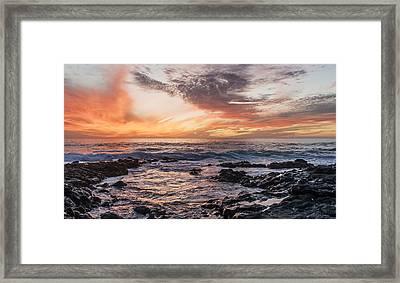 El Golfo, Sunset, Lanzarote, Framed Print by Travelstock44 - Juergen Held