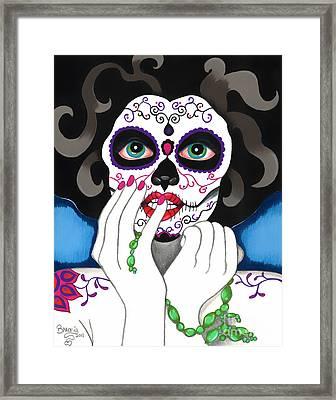 El Rosario Sagrado Framed Print by B Marie