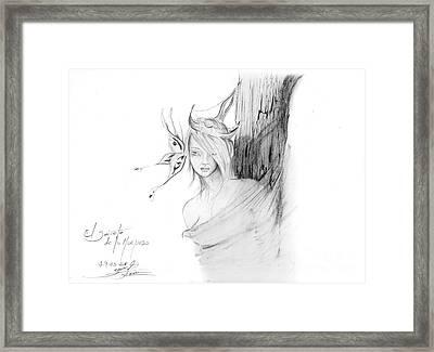 El Secreto De La Mariposa Framed Print by Guillermo Padilla
