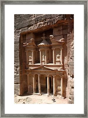 Elaborate Sandstone Temple Or Tomb Framed Print by Luis Marden