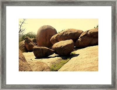 Elaphant Rocks 4 Framed Print by Marty Koch