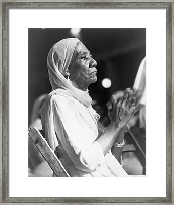 Elderly African American Woman Framed Print by Everett