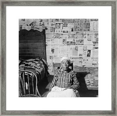 Elderly Former Slave In Her Sitting Framed Print by Everett