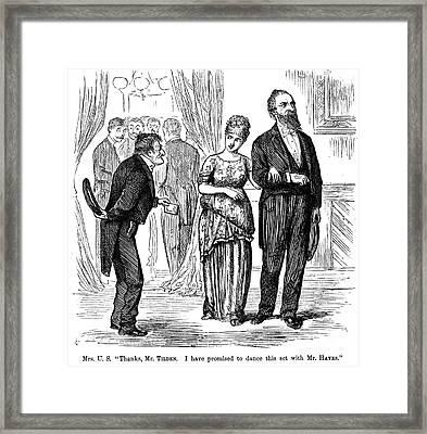 Election Cartoon, 1877 Framed Print by Granger