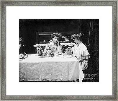 Electric Cookware, 1908 Framed Print by Granger