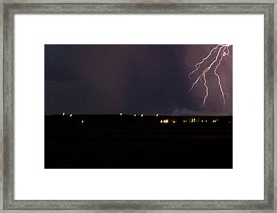 Electric Fingers Framed Print by Joshua Dwyer
