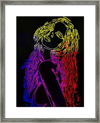 Electric Girl Framed Print by Steve K