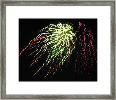 Electric Jellyfish Framed Print by Rhonda Barrett