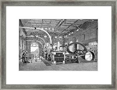 Electric Tramway Generator, 19th Century Framed Print by