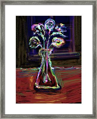 Electric Vase Framed Print by Russell Pierce
