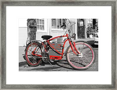 Electric Vehicle . Peddle Power . Infinite Miles To The Gallon . 7d12730 Framed Print by Wingsdomain Art and Photography