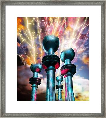 Electrical Generators Framed Print by Victor Habbick Visions