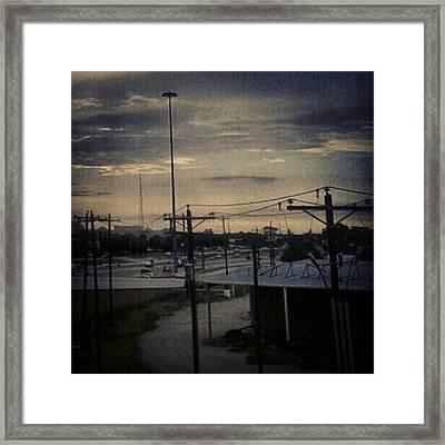 #electricalsky Framed Print by Kel Hill