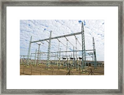 Electricity Substation Framed Print by Peter Chadwick
