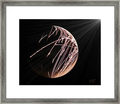 Electrified Orb Framed Print by Kristin Elmquist