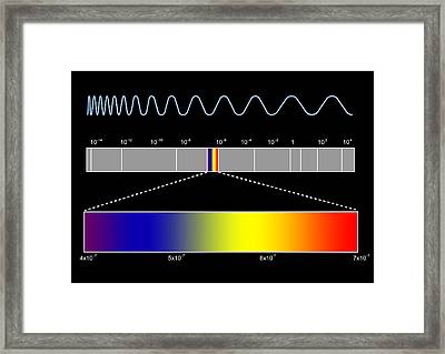 Electromagnetic Spectrum Framed Print by Seymour