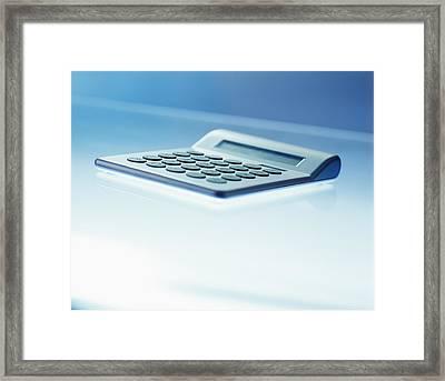 Electronic Calculator Framed Print by Adam Gault