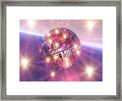 Electronic World, Artwork Framed Print by Mehau Kulyk
