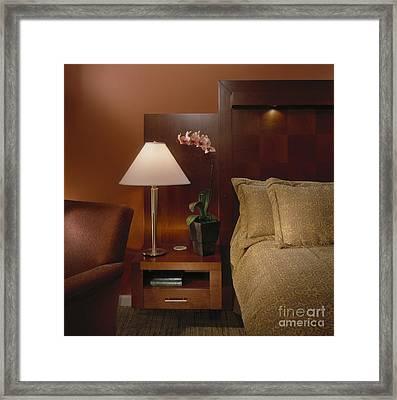 Elegant Bedroom Framed Print by Robert Pisano