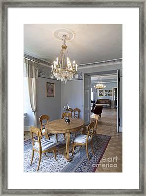Elegant Dining Room Framed Print by Jaak Nilson