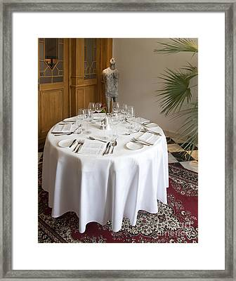 Elegant Dining Setup Framed Print by Jaak Nilson